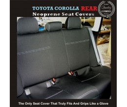 Seat Covers REAR suitable forToyota Corolla S E150 / E170 / E180, (SEDAN / HATCH) Premium Neoprene (Automotive-Grade) 100% Waterproof
