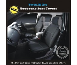 Seat Covers FRONT PAIR + CONSOLE LID COVER suitable for Toyota HiAce Series – MK.5 (Van) Premium Neoprene (Automotive-Grade) 100% Waterproof Copy
