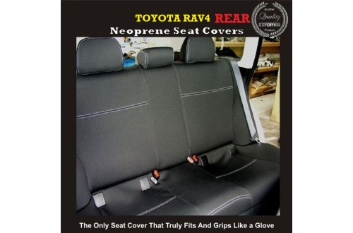 Seat Covers REAR suitable for Toyota Rav4 XA20 / XA30 / XA40, Premium Neoprene (Automotive-Grade) 100% Waterproof