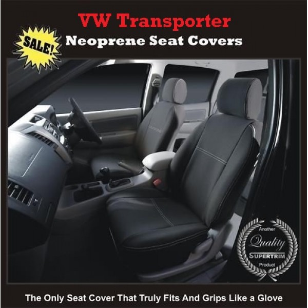 TOP VOLKSWAGEN VW TRANSPORTER FRONT PAIR OF WATERPROOF NEOPRENE CAR SEAT COVERS
